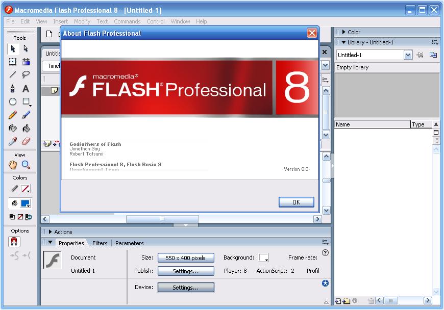 Главная особенность macromedia flash player 8 безусловно, лучшим, в настоящее время, продуктом по созданию очень