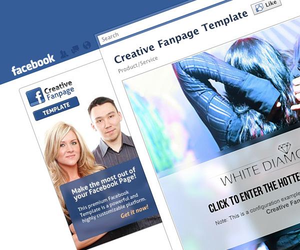 Creative Facebook Fanpage Template