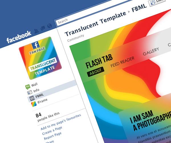 Translucent - Facebook Fan Page Template