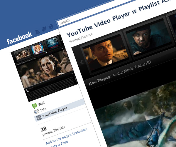 Facebook Fan Page YouTube Player AS3