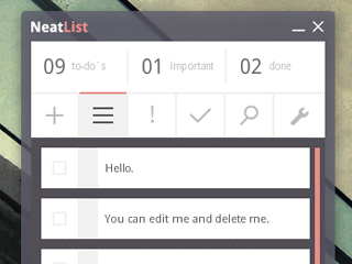 NeatList AIR App