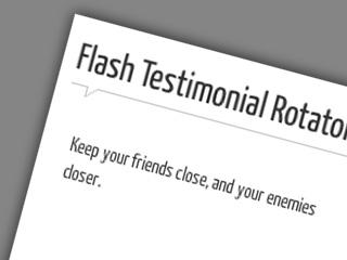 Flash Testomonials