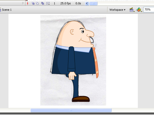 Smoothly Animate a Caricature Using Motion Tweens