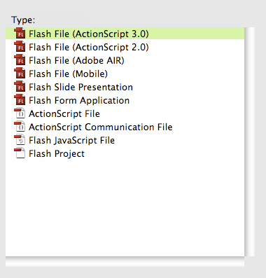 Create new ActionScript 3.0 File.