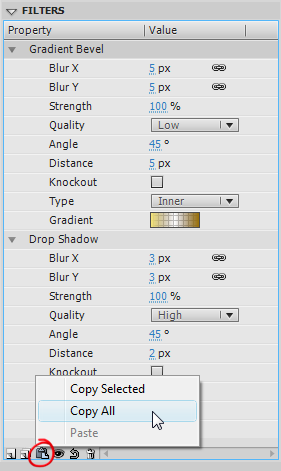 Free Flash text filter effects