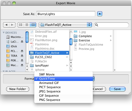 how to get to quicktime settings