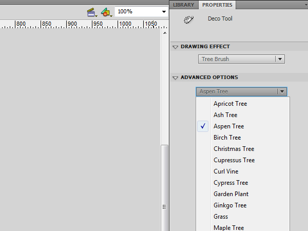 Using the New Deco Drawing Tool in Flash CS5