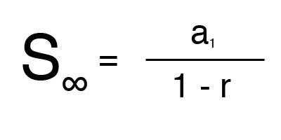 Formula for sum of an infinite geometric series