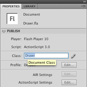 Setting the document class
