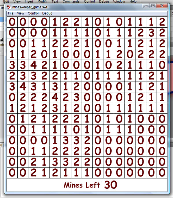 Numbers placed correctly on all the zones of the board