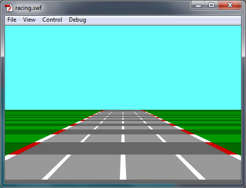 Add alternate lines to the road.