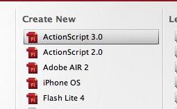 new .fla file