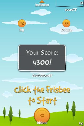 keepy uppy frisbee Flash game