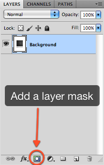 Add a layer mask to the polaroid