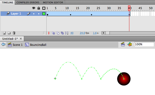 Creating a bouncing ball animation