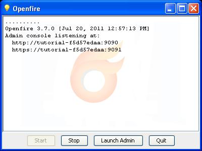 Openfire running