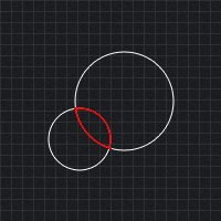 Circle circle collision detection preview