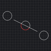 Circle line segment collision detection