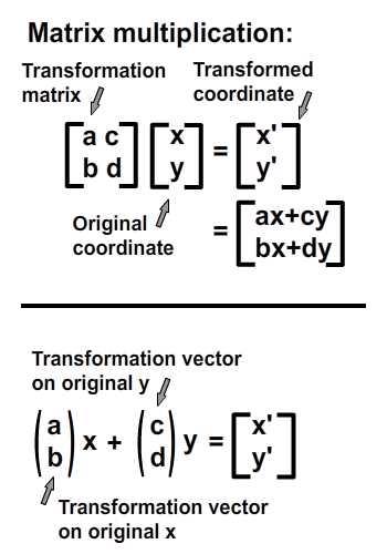 Interpretation of matrix