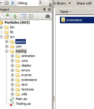 Install particle extension onto Starling
