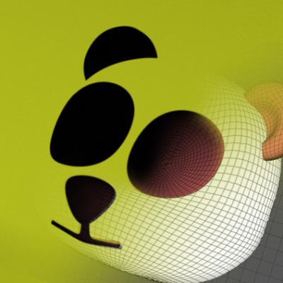 Aetuts retina monochromatic 3d logo