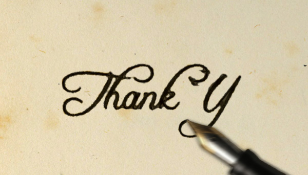 Pics for writing thank you animation Thank you in calligraphy writing