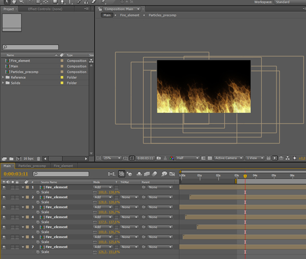 how to create realistic fire for unity