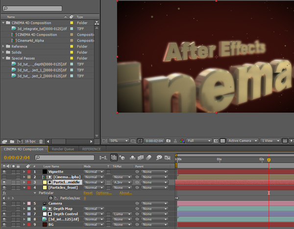 Integrating Cinema 4D into After Effects
