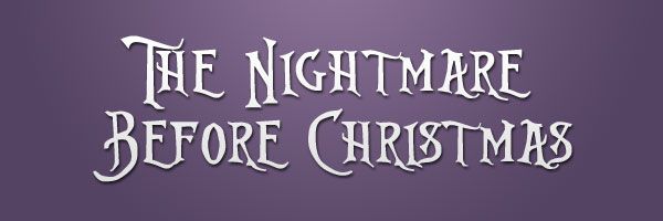 Nightmare Before Christmas Fonts.50 Free Movie Themed Fonts You Can Download