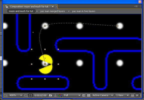 Chomp out your own pac man animation part 1 whats with that curved line and pac man is facing the wrong way we will fix both of those issues in a few more steps but right now just finish toneelgroepblik Images