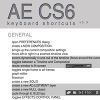 Preview for Adobe After Effects CS6 Keyboard Shortcuts