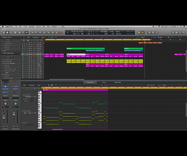 The DAW of my choice is Logic Pro X, a full-feature music creation environment