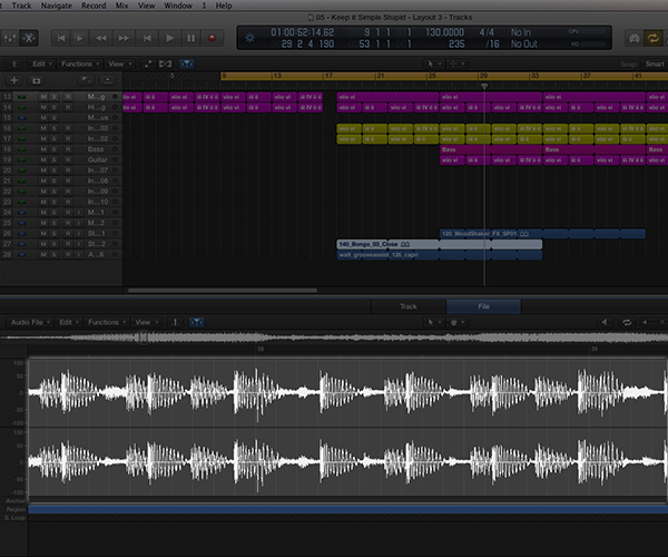 Your DAW will give you extensive tools for editing audio files