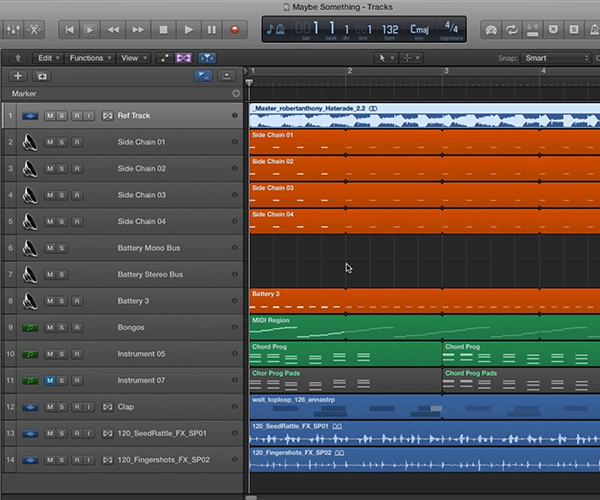 Adding a reference track to your project can help guide you when you get stuck