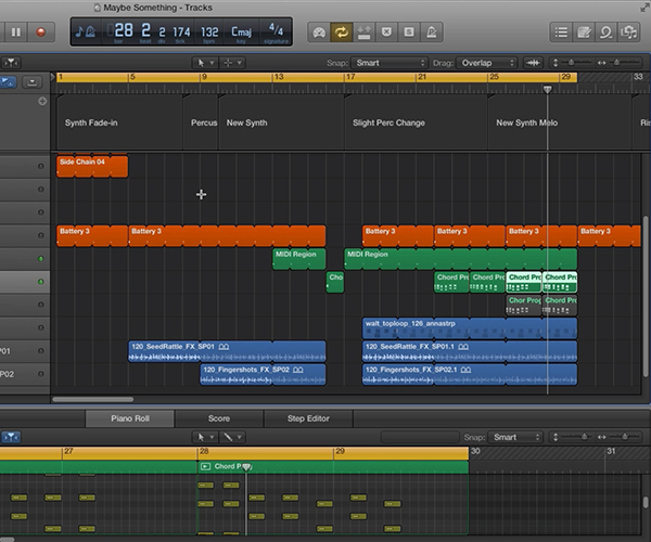 Using the reference track, you can begin to flesh out your project