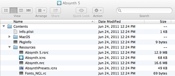 The file path to the Absynth icon.