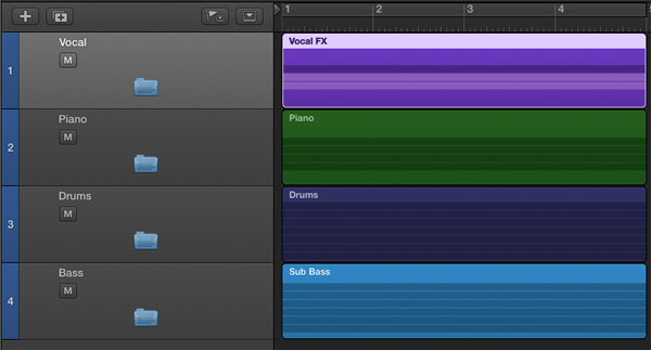 The Main Window after creating the folder tracks.