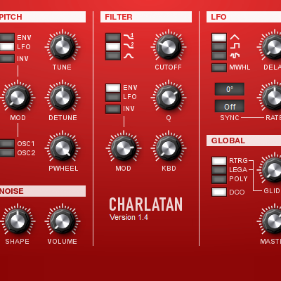 Preview for Sound Design with Charlatan VSTi