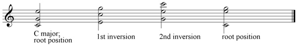 C major inversions wide