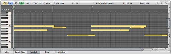 Creating Guitar Tabs with Logic Pro 9