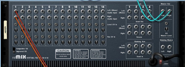 getting to know propellerhead reason 4 u2032s mixer device rh music tutsplus com Auxiliary Send Mixer with 4 Aux Sends