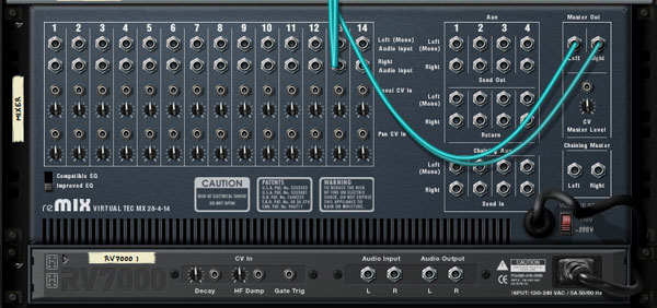 getting to know propellerhead reason 4 u2032s mixer device rh music tutsplus com Auxiliary Output Aux Send to Monitor