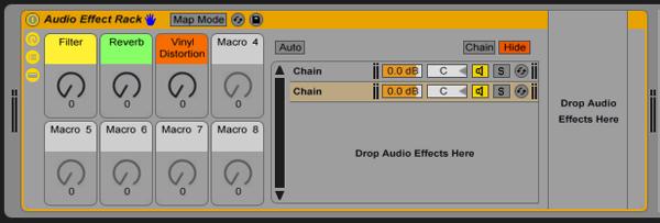 Ableton Live Racks: Creating One Knob Macro Controls