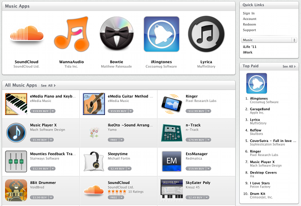 Audio Apps The Mac App Store Day 1
