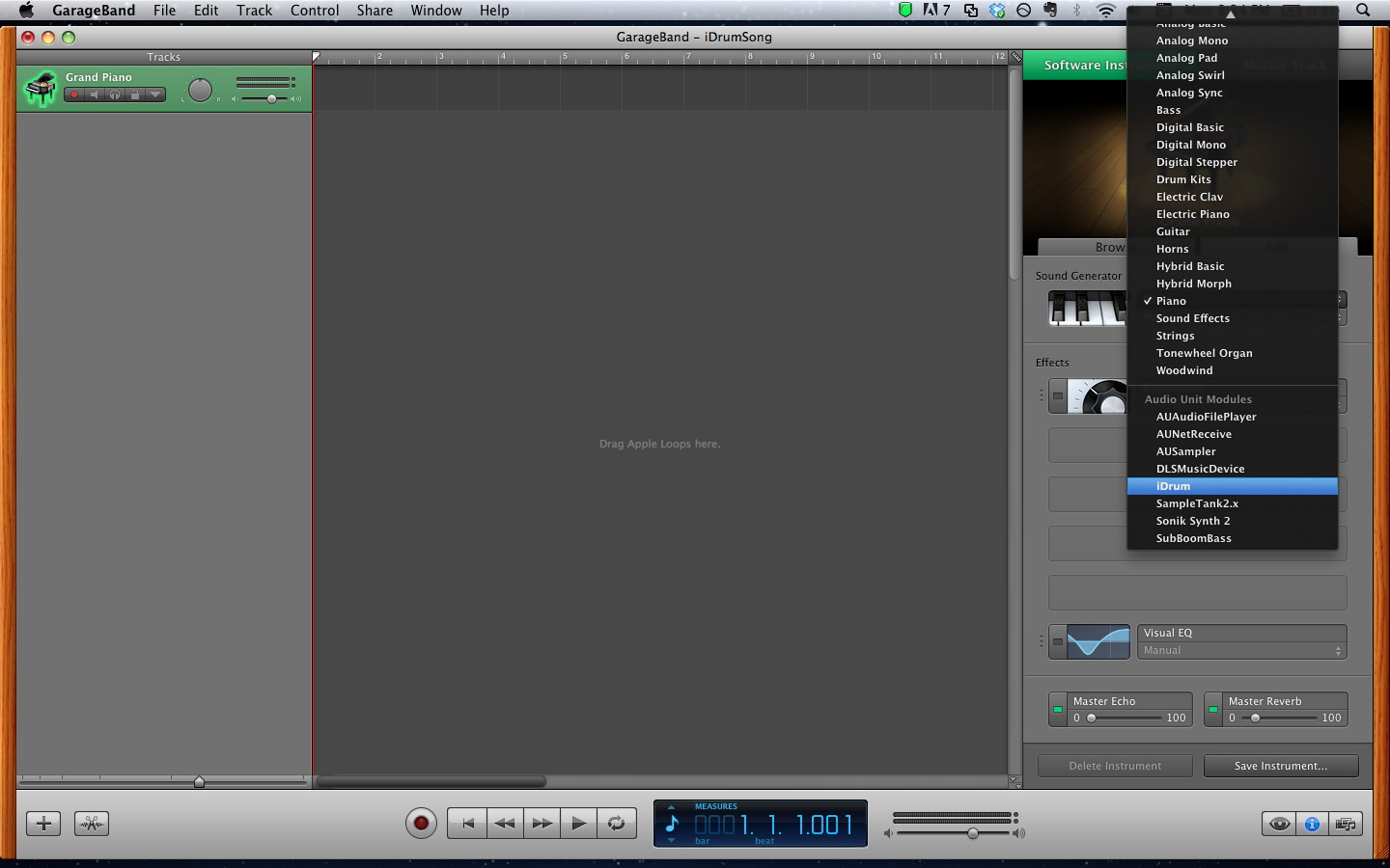 Use iDrum for Your Drum Tracks in GarageBand