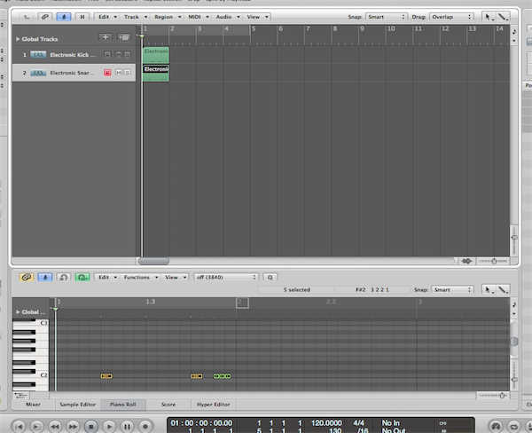 quick tip how to make beats with logic pro 39 s built in drums samples. Black Bedroom Furniture Sets. Home Design Ideas
