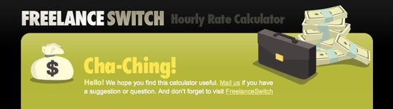 FreelanceSwitch Hourly Rate Calculator