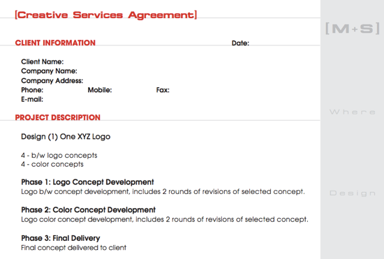 Sample Design Contract