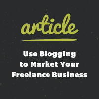 How to use blogging market your freelance business