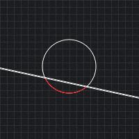 Circle line collision detection